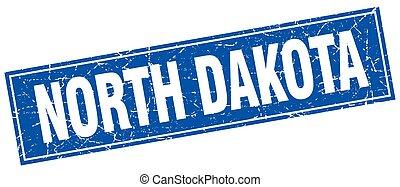 North Dakota blue square grunge vintage isolated stamp