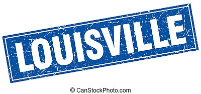 Louisville blue square grunge vintage isolated stamp