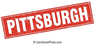 Pittsburgh red square grunge vintage isolated stamp