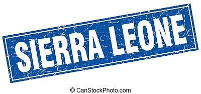 Sierra Leone blue square grunge vintage isolated stamp