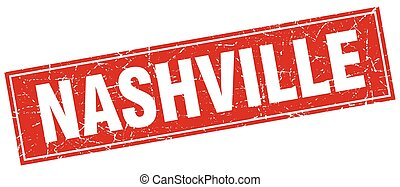 Nashville red square grunge vintage isolated stamp