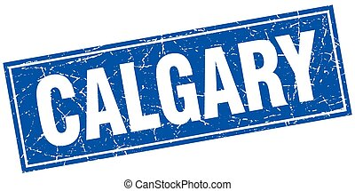 Calgary blue square grunge vintage isolated stamp