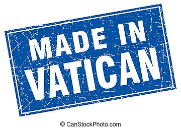 Vatican blue square grunge made in stamp