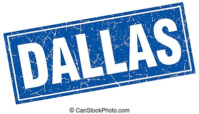 Dallas blue square grunge vintage isolated stamp