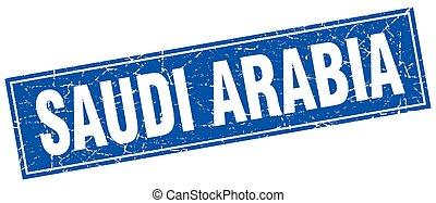 Saudi Arabia blue square grunge vintage isolated stamp