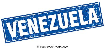 Venezuela blue square grunge vintage isolated stamp