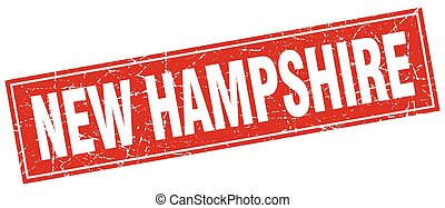 New Hampshire red square grunge vintage isolated stamp