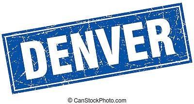 Denver blue square grunge vintage isolated stamp