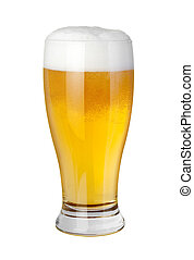 Beer Glass isolated on a white background with a clipping...