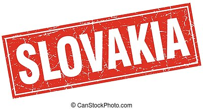 Slovakia red square grunge vintage isolated stamp
