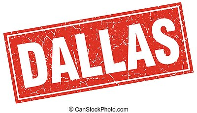 Dallas red square grunge vintage isolated stamp