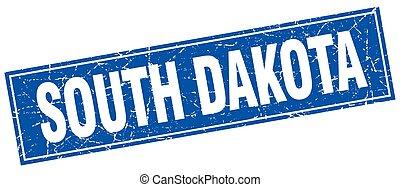 South Dakota blue square grunge vintage isolated stamp