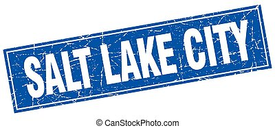 Salt Lake City blue square grunge vintage isolated stamp