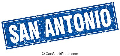 San Antonio blue square grunge vintage isolated stamp
