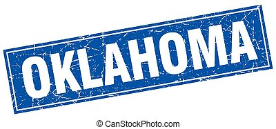 Oklahoma blue square grunge vintage isolated stamp