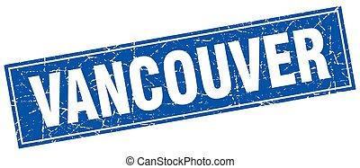 Vancouver blue square grunge vintage isolated stamp
