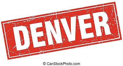 Denver red square grunge vintage isolated stamp