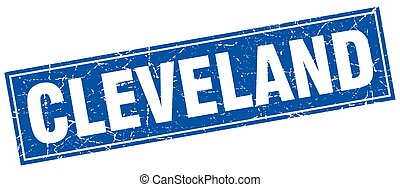 Cleveland blue square grunge vintage isolated stamp