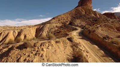 4k Aerial View in the desert - Sierra Alhamila Desierto De...