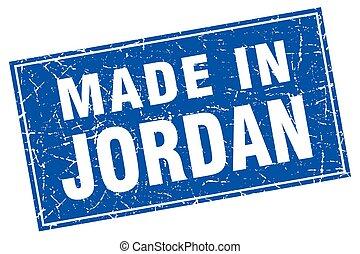 Jordan blue square grunge made in stamp