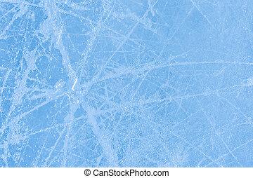 skating marks on an ice skating rink