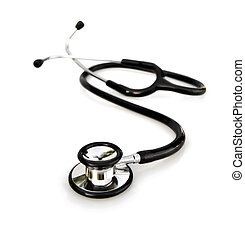 stethoscope on white - doctor or physicians stethoscope on...