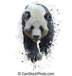 Giant Panda Bear - Digital Painting of Giant Panda Bear