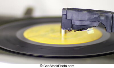 Turntable With Spinning Vinyl