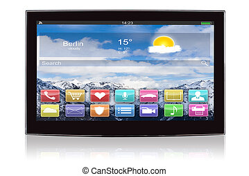 Closeup Smart Flat Screen Television - Closeup smart flat...
