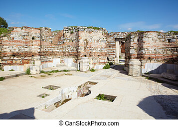 st Johns Basilica - The Baptismal ruins of the st. Johns...