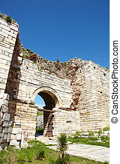 Gate of Persecution - The ruined arch of the Gate of...