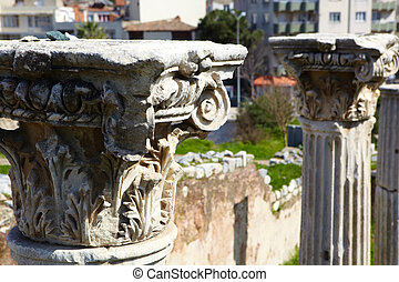 Roman Bath ruins - The excavated and partially restored...