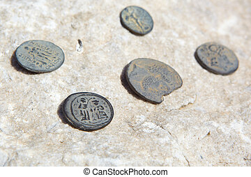 st Johns Basilica - Roman Coins found on the site of the...