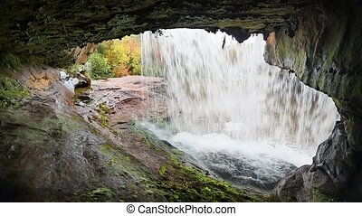 Beneath of Kun De Kun Falls Loop - Loop features a view from...