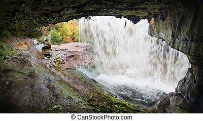 Beneath of Kun De Kun Falls Loop
