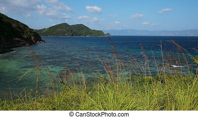 tropical sea under the blue sky - Landscape of tropical sea,...