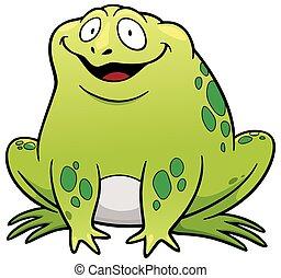 Vector illustration of Frog cartoon