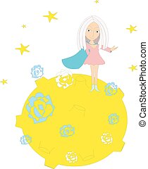 Planet - Supergirl on the magic planet