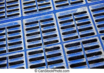 non slip plastic floor - close up non slip blue plastic...