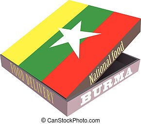 Symbolic box for delivery of food Burma - Symbolic box for...