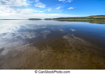 lake in Siberia - clear lake in summer Sunny day General...