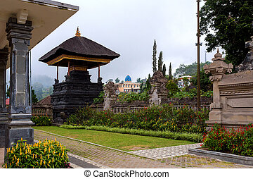 Pura Ulun Danu water temple on a lake Beratan, Bali...