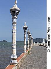 antigas, Cais, em, Kep, cidade, cambodia,