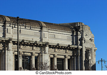 Central railway station, Milan - Central railway station in...