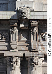 Statue of Central railway station, Milan - Modernist statue...