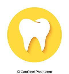 Tooth icon Dental logo - Tooth icon or sign isolated on...