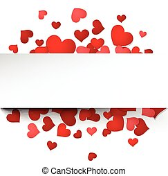 Valentines card with hearts - Romantic valentines card with...