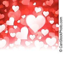 Valentines background with hearts - Valentines red...
