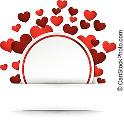 Valentine background with hearts. - Romantic valentine...