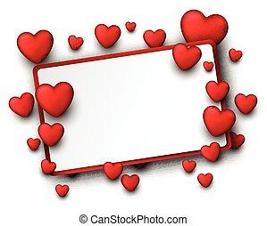 Valentine background with hearts. - Valentine background...